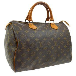 Auth Louis Vuitton Speedy 30 Satchel #7237L33B
